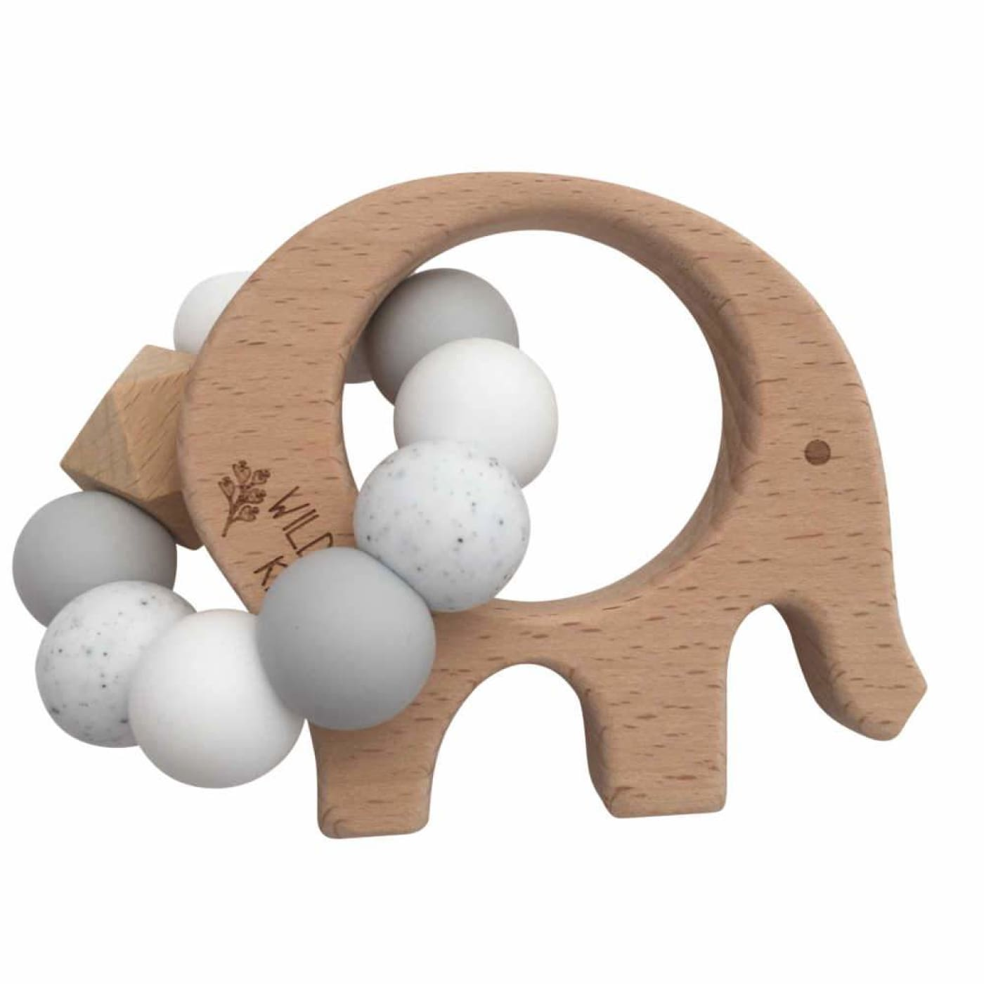 Wildwood Kids Teether - Elephant Grey Mix - NURSING & FEEDING - TEETHERS/TEETHING JEWELLERY