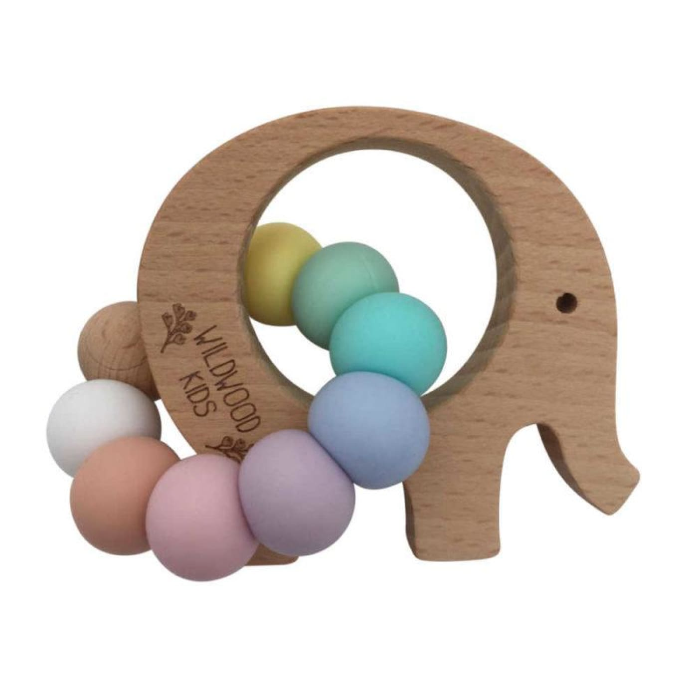 Wildwood Kids Teether - Elephant Rainbow - NURSING & FEEDING - TEETHERS/TEETHING JEWELLERY