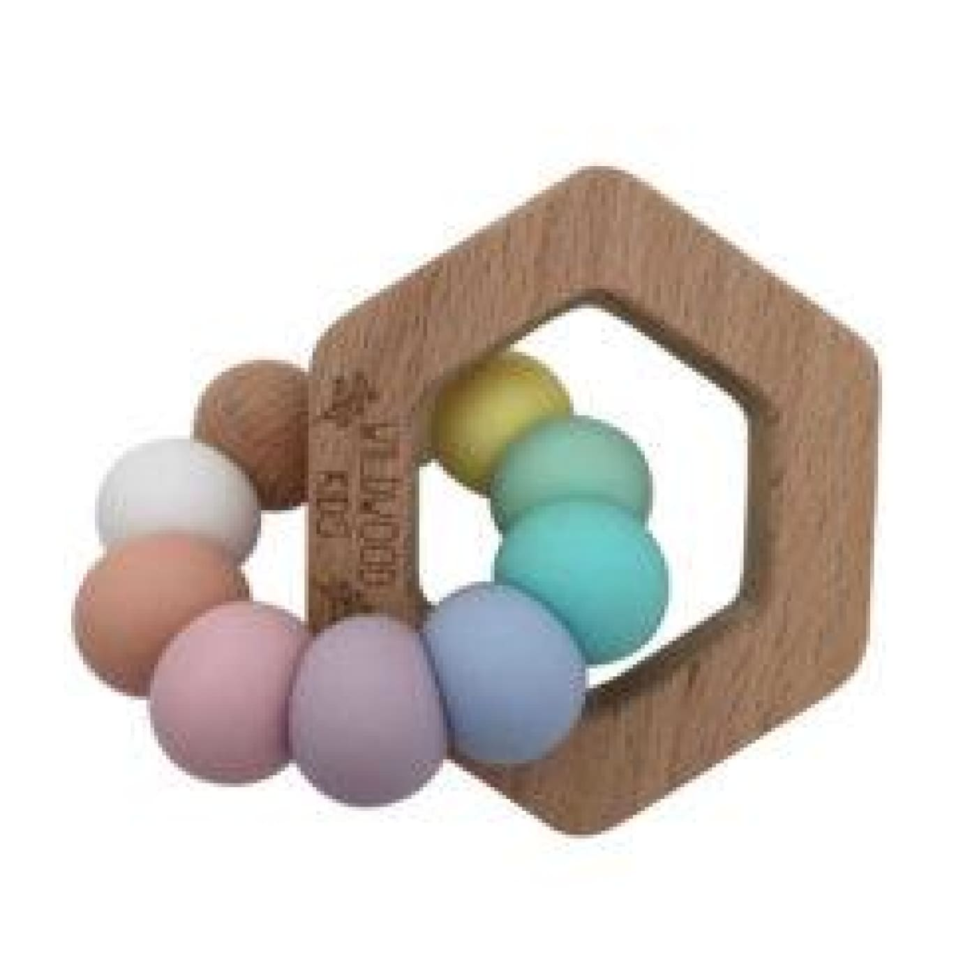 Wildwood Kids Teether - Hexagon Rainbow - NURSING & FEEDING - TEETHERS/TEETHING JEWELLERY