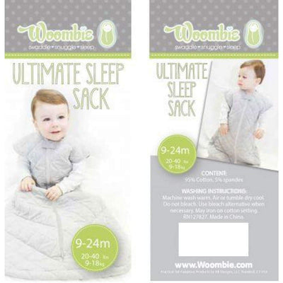 Woombie Ultimate Sleep Sack - Lavender Elephant 9-24M - NURSERY & BEDTIME - SLEEPING BAGS