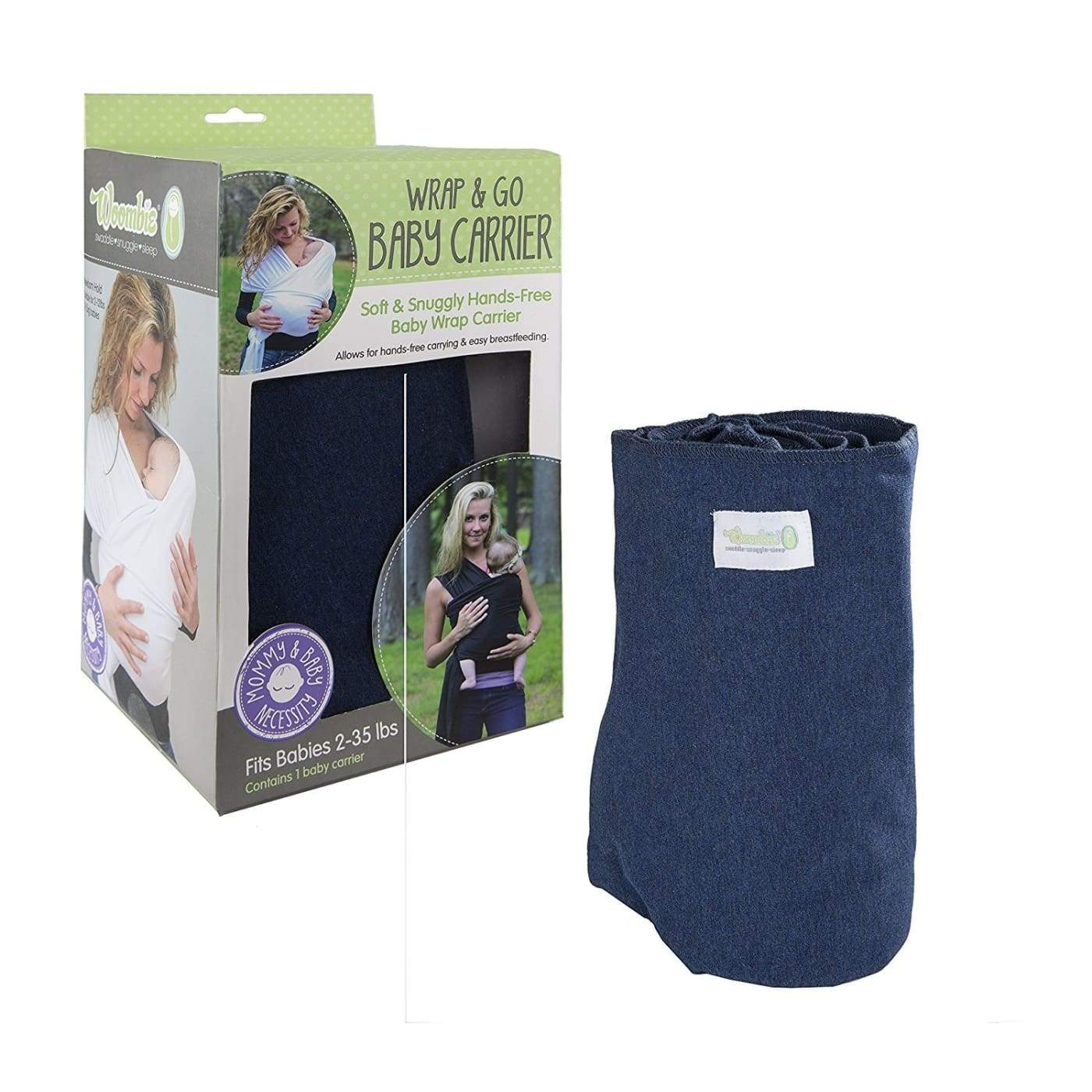 Woombie Wrap & Go - Navy - ON THE GO - BABY CARRIERS/SLINGS