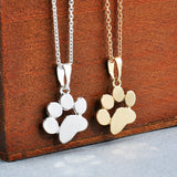 18k Gold and Silver Plated Paw Print Necklace