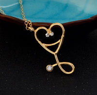 Gold Stethoscope Necklace