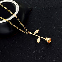 Gold and Silver Rose Necklace