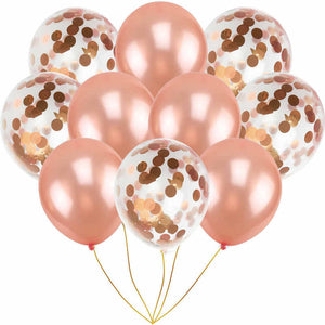 30 PCS Rose Gold Balloons
