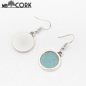 Blue Cork Earrings