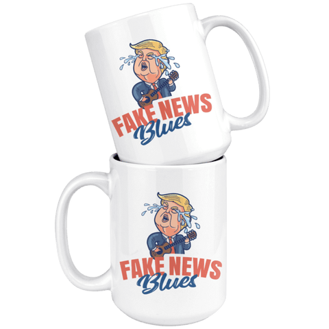 Image of Fake News Blues 15 oz. Mug