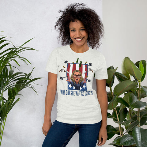 Image of Why Did She Wait? Short-Sleeve Unisex T-Shirt