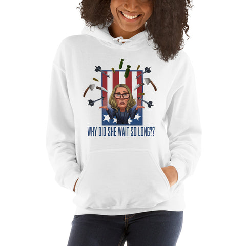 Image of Why Did She Wait? Unisex Hoodie