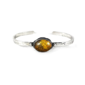 unEarthed cuff with amber