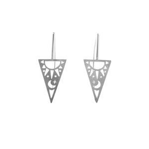 Triangle Sunshine Moonlight Earrings