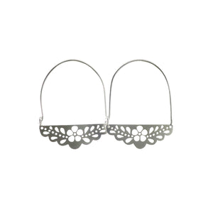 Flower Lace Hoop Earrings
