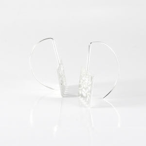 Small Papel Heart Earrings