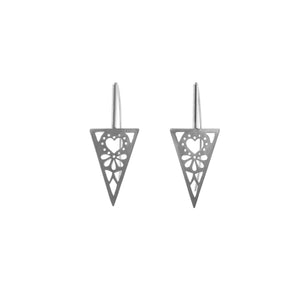 Triangle Corazon Earrings