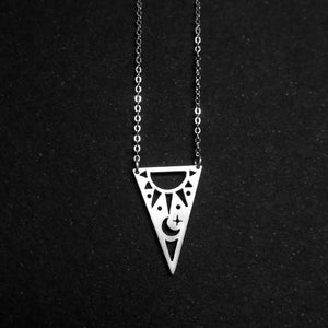 Triangle Sunshine Moonlight Necklace