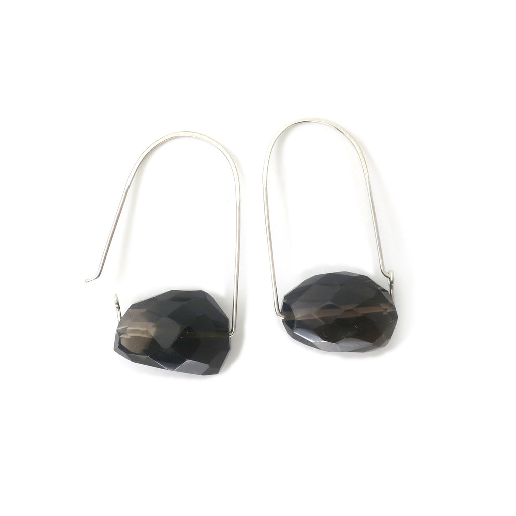 Smoky Quartz ~ Carry-On Hoop Earrings