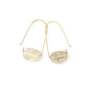 Quartz ~ Carry-On Hoop Earrings