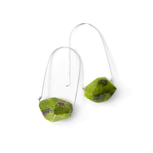 Stichtitic Serpentinite ~ Carry-On Hoop Earrings