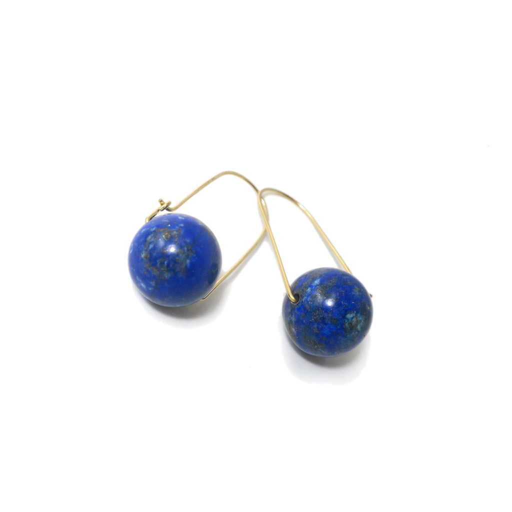 Lapis Lazuli ~ Carry-On Hoop Earrings
