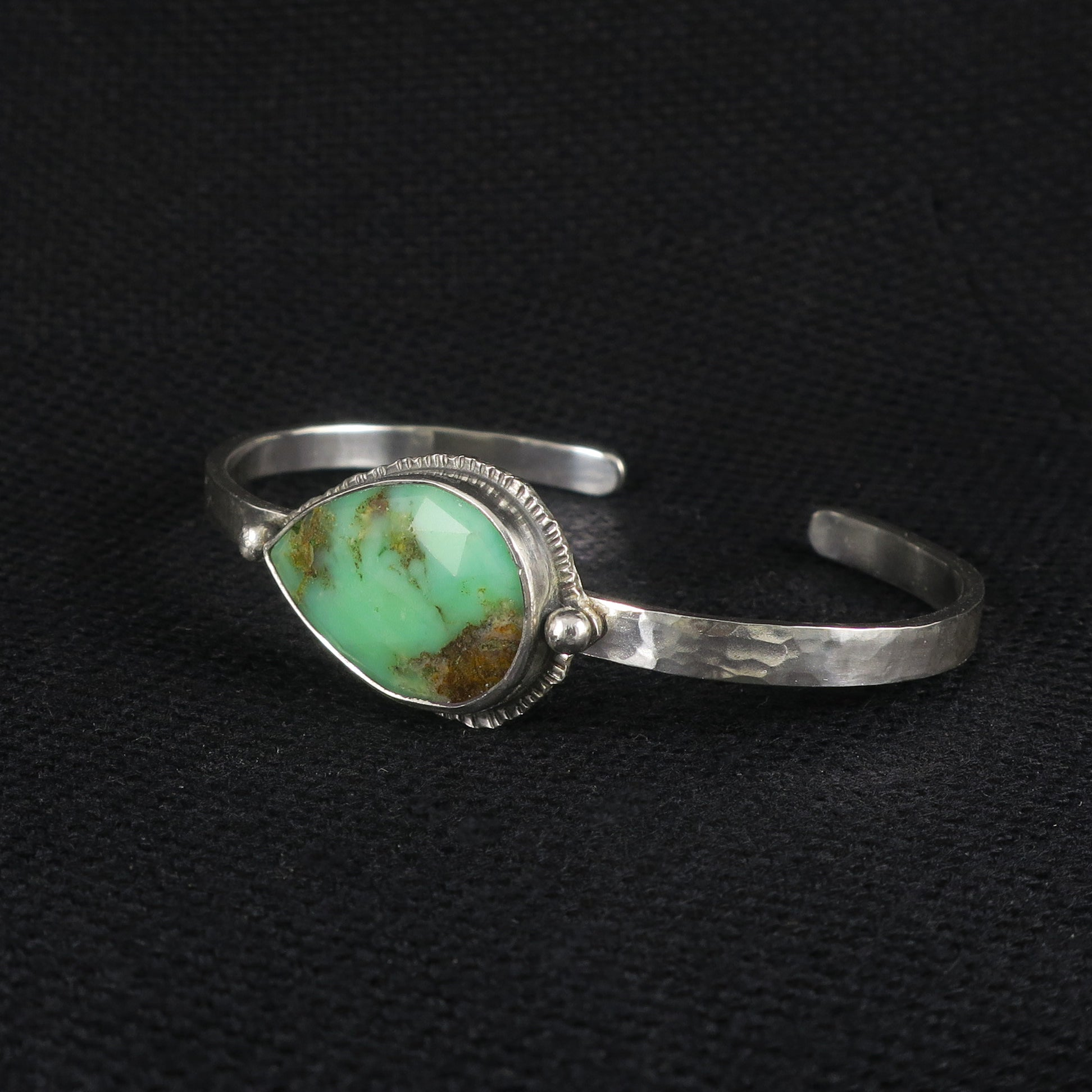 unEarthed cuff with chrysoprase