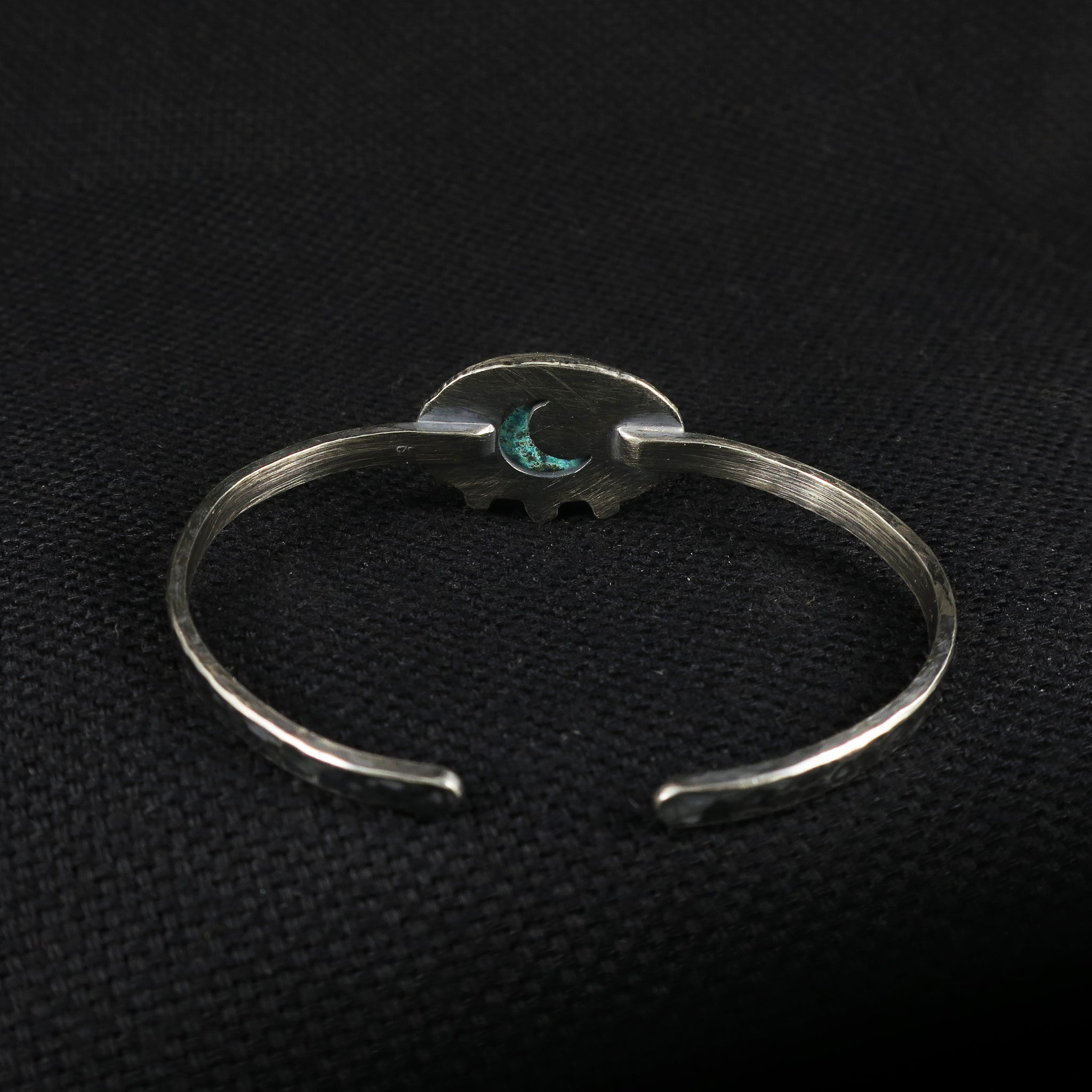 unEarthed cuff with chrysocolla