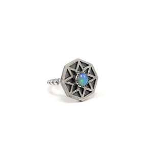 The Cosmos Ring with Opal