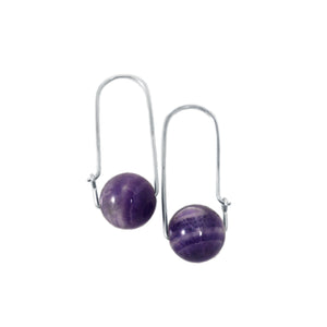 Amethyst  ~ Carry-On Hoop Earrings