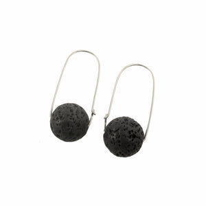 Lava Rock ~ Carry-On Hoop Earrings