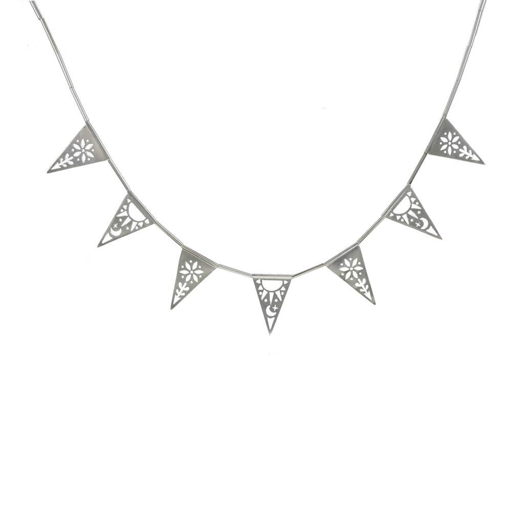 Grand Triangle Papel Picado Necklace