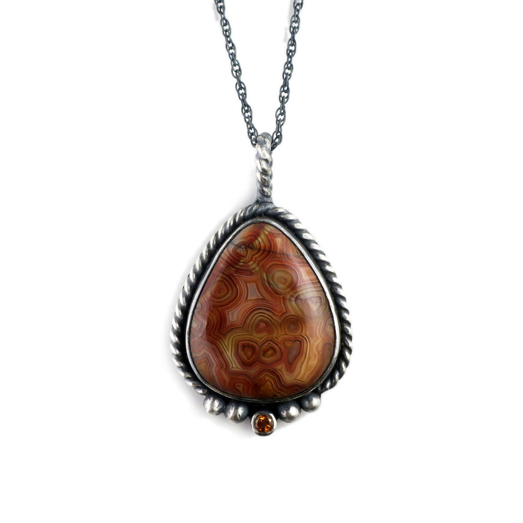 unEarthed necklace with crazy lace agate and citrine