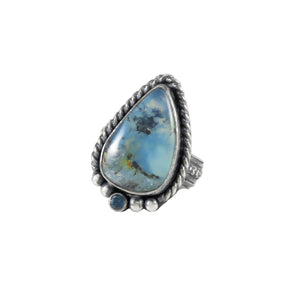 unEarthed cuff with peruvian opal and sapphire