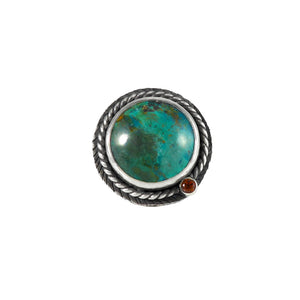 unEarthed ring with chrysocolla and citrine