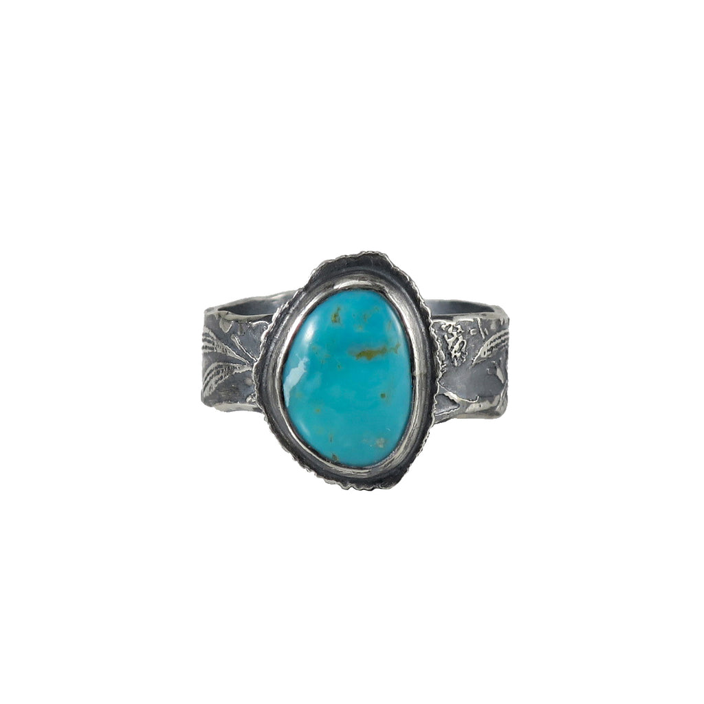 unEarthed ring with turquoise