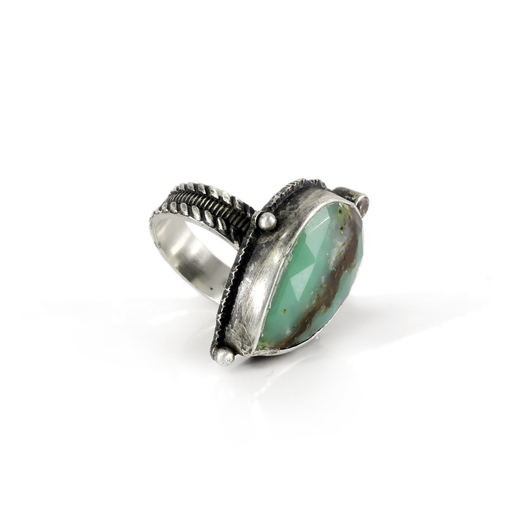 unEarthed ring with chrysoprase and citrine