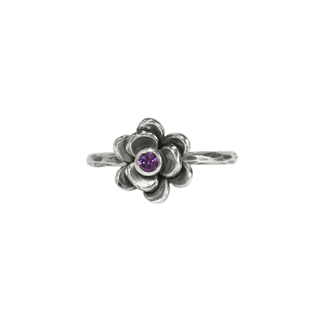 Wildflower Ring Antiqued