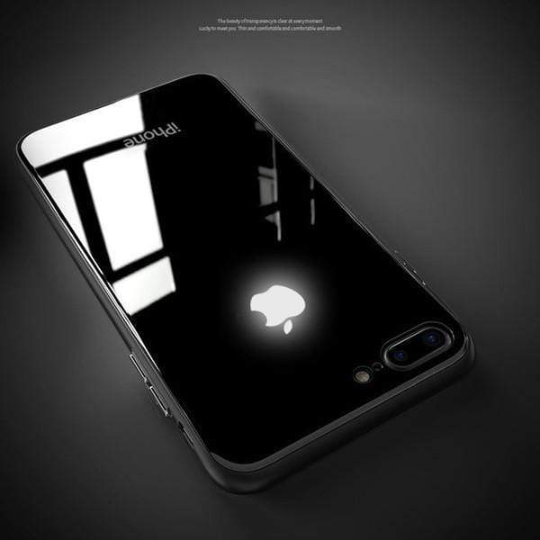 outlet store e9daa a20f5 LED Light Illuminated Apple Logo 3D Designer Case Back Cover For iPhone6/6S  6/6SPlus 7/8 7/8Plus X/XS/XR/XS MAX