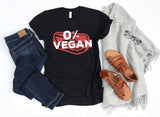 0% Vegan Funny Steak Meat Keto Ketogenic Diet Gift T-Shirt, Tank Top, V-Neck, Long Sleeve, Sweatshirt, Hoodie, for Men & Women