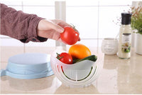Salad & Fruit Bowl Cutter - Easy to Make Salads in 60 Seconds