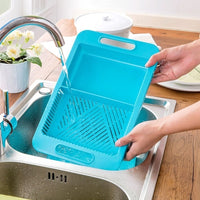 Storage Chopping Board Cutting Board & Strainer