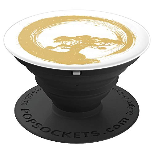 Spiritual Zen Bonsai Tree Buddha Meditation Peace - PopSockets Grip and Stand for Phones and Tablets
