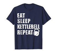 Eat Sleep Kettlebell Repeat HIIT Fitness Exercise Gym Shirt