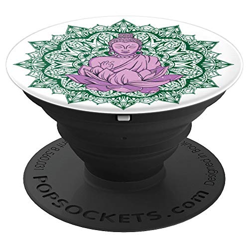 Spiritual Zen Buddha Mandala Meditation Peace - PopSockets Grip and Stand for Phones and Tablets