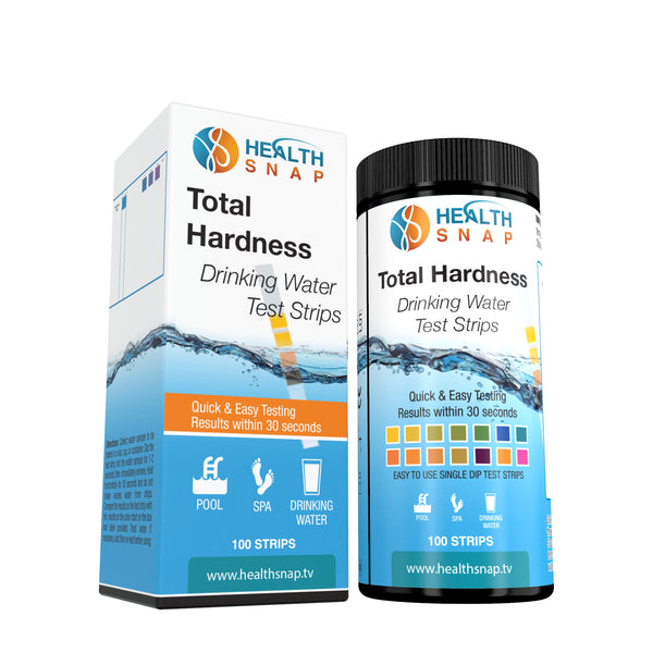 Total Water Hardness Test Strips - Rapidly Test Hardness (TDS) Levels in Drinking Water & More