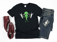 Alien Lifting Humans Funny Weightlifting Outer Space Alien Unisex T-Shirt, Tank Top, V-Neck, Long Sleeve, Sweatshirt, Hoodie, for Men & Women