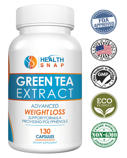 High-Potency Green Tea Antioxidant Extract with ECGC, Polyphenols and Naturally-Occurring Gentle Caffeine for Healthy Heart, Brain, Immune, Metabolism and Weight Support - 1000mg, 130 Count