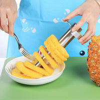 Stainless Steel All in One Pineapple Peeler, Corer, Cutter, and Slicer Tool