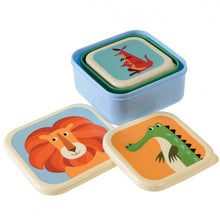 Load image into Gallery viewer, Animals Snack Boxes (Set of 3)
