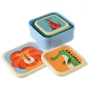 Animals Snack Boxes (Set of 3)