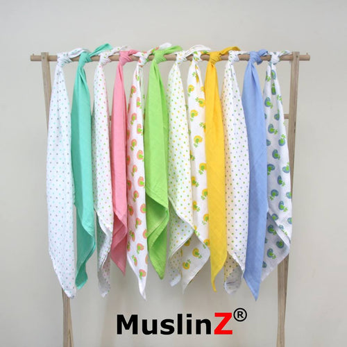 70x70cm Muslin Cloths, 100% Cotton muslin squares by MuslinZ