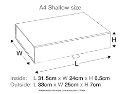 A4 Shallow Luxury White Gift box